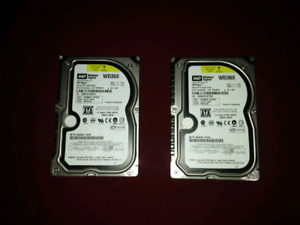 2 rare western digital WD360 hdd