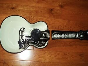 Elvis Guitar Porcelain Snack Tray