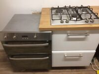 Hotpoint integrated double oven (fan) with hob