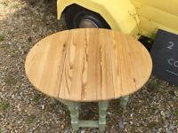 Pine drop leaf shabby chic upcycled side/ coffee table
