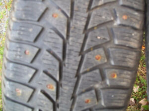 185/60/r15  84s  studded snow tires (for sale)