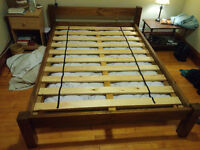 Beautiful Canadian made double bed frame.