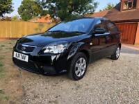2011 KIA RIO 1.4 1 5DR BLACK GENUINE 38K ONLY ONE LADY OWNER LOVELY CONDITION