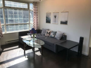 downtown Vancouver financial district one bedroom+den fully furn
