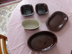 Brown Bake Wear - 13 Pieces - From England Kitchener / Waterloo Kitchener Area image 1