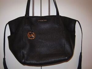 NEW BLACK MICHAEL KORS BAG WITH TASSELS. ALL SOFT KID LEATHER