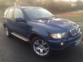 2001 BMW X5 SPORT 4.4I V8 AUTO/TRIPTRONIC # sat nav# xenons # p/ sensors# p/plate