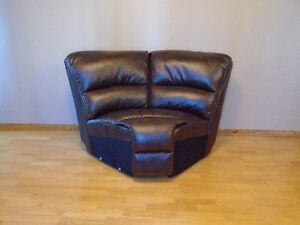 Leather wedge chair