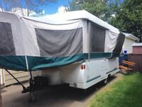 1998 Coleman 12' tent trailer w/ pop out kitchen and add a room