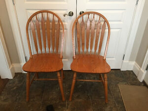 4-Solid Oak Chairs in excellent  condtion-$300.00