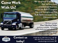 Experienced Class 1 Tanker Drivers Needed: $75k to $110k/year!!
