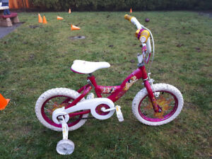 Pink Disney Princess Bike with Training Wheels
