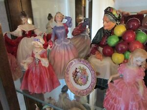 Exquisite Collection of Royal Doulton Figurines For Sale