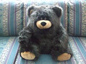 Cuddle-Bear, Black, Shiny and Soft.