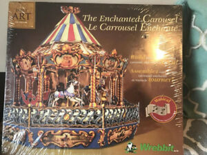 Carousel the Enchanted Carousel KIT By Built Art Collection-BNIB