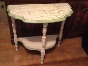 Vintage half circle side table