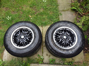 4 Summer Tires (Toyo P225/75R15) with Rims