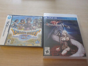 Dragon Quest IX and Drakengard 3(sealed) OOP