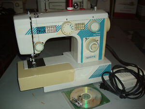 """White"" Jeans sewing machine (reduced)"