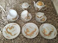 Oriental China set very pretty £30 good con one hairline crack one cup bottom b on Avon