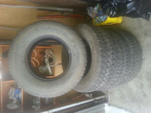 "4 Goodyear Wrangler 16"" all terrain adventure tires"