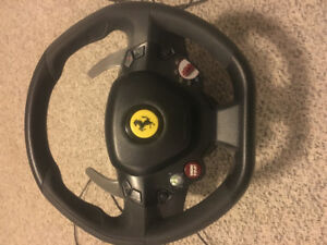 Thrust Master Ferrari 458 spider gaming steering wheel and pedal