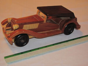 Hand-crafted Wooden Highly Detailed '30s Roadster model Edmonton Edmonton Area image 1