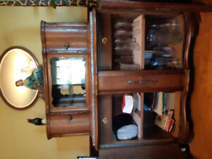 Early 1900's antique hutch