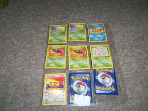 Pokemon 1st edition or special edition. 9 for 100$ or 3 50$