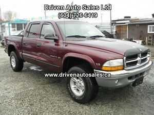 2000 Dodge Dakota SLT Crew Cab 4x4 Pickup Truck