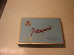ANTIQUE METAL PLAYERS CIGARETTE BOX