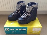 Scarpa Vega High Altitude Mountaineering Boots - size 7.5 to fit size 6 feet