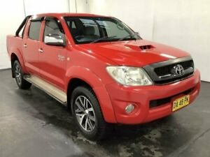 2010 Toyota Hilux KUN26R 09 Upgrade SR5 (4x4) Velocity Red 4 Speed Automatic Dual Cab Pick-up