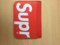 LV supreme wallet and card holder