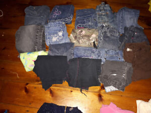 Large lot girls clothes Size6-7 18 pairs of pants and more