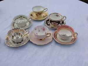 Made in England Tea Cups Saucers