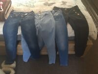 Jeans skinny 4 pairs size 6 & 8