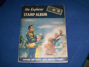 THE EXPLORER STAMP ALBUM-H.E. HARRIS-1961-400+ STAMPS-VINTAGE!