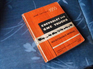 1955 Chev truck 1st. series service manual.