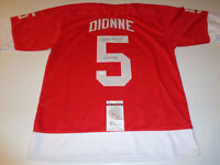 MARCEL DIONNE DETROIT RED WINGS AND HOF AUTOGRAPHED JERSEY