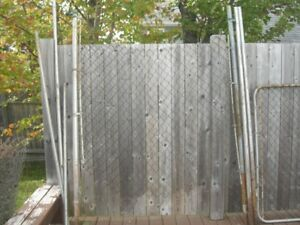 Gal chain link fence and gate