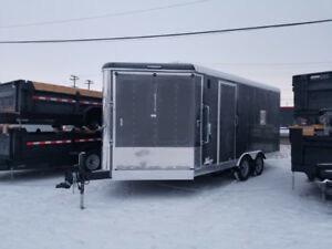 ENCLOSED SNOWMOBILE TRAILER 8.5X20!! ALL CREDIT FINANCING!!