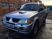 Bargain big beautiful Mitsubishi shogun sport 2.5 diesel full leather long MOT no advisories