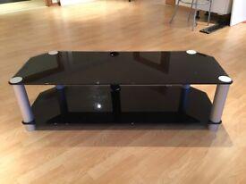 TV entertainment unit (Black Glass)
