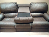 Elran Sofa Set (Dark Brown Couch and Love Seat)