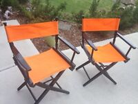 Vintage solid wood directors chairs