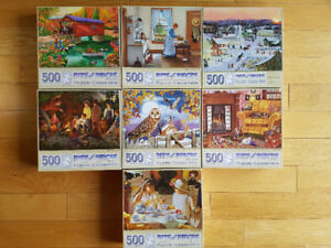 Puzzles Lot 7 x 500 pieces