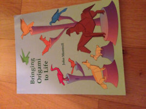 Origama instructions book; fun for kids and adults
