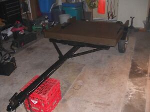 SMALL RECONDTIONED 4 FT X 4 FT FLATBED TRAILER