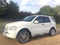 """ULTIMATE CRUISE MACHINE MERCEDES ML 270 CDI (2004)FULLY LOADED TV/DVD/CD/USB/AUX 22""""ALLOY MUST SEE!!"""